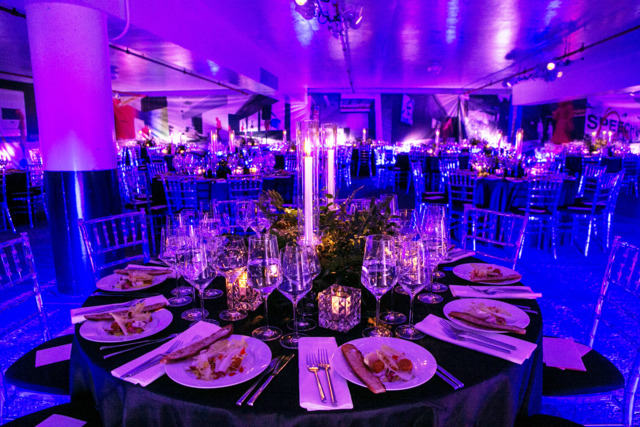 BizBash: How This Art Gala Turned an Underground Parking Garage Into a Glamorous Dinner Space