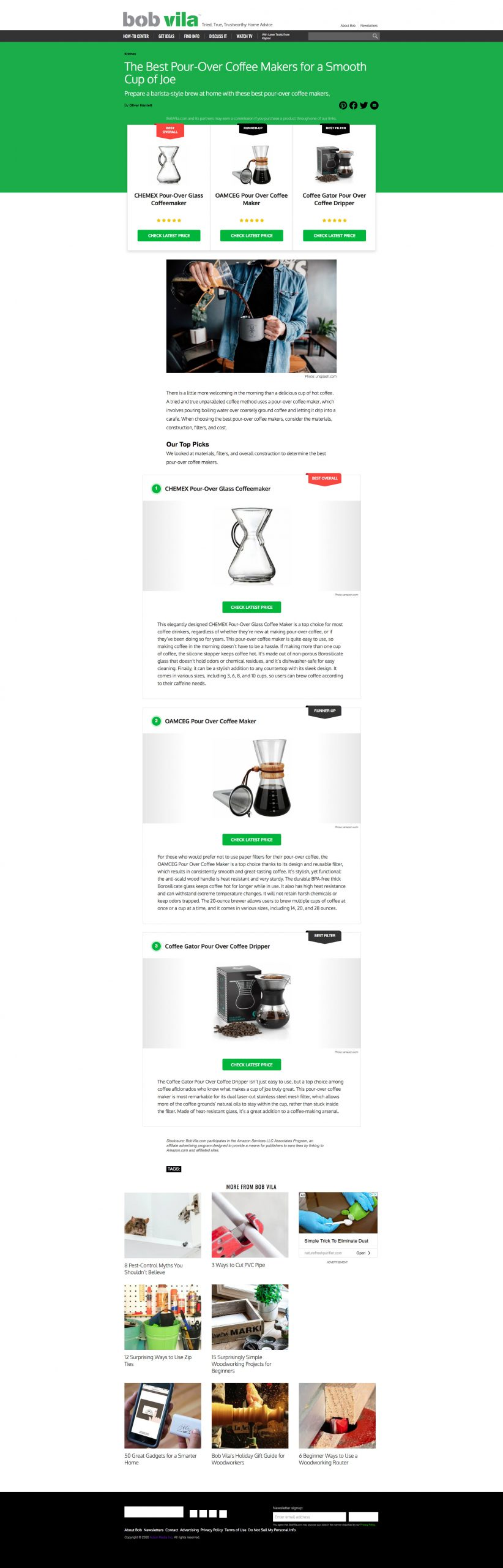 The Best Pour-Over Coffee Makers