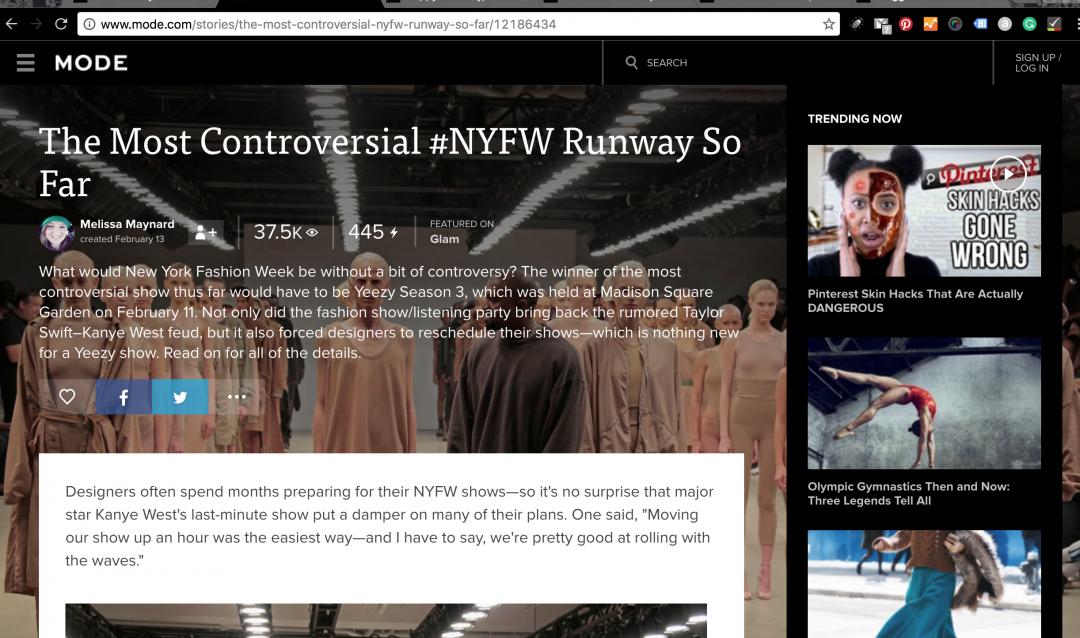 The Most Controversial #NYFW Runway So Far